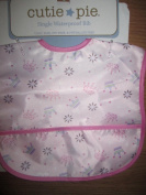 Cutie Pie Single Waterproof Bib(vinyl Free, Pvc Free, & Phthalate Free) Ages:6m-2yrs