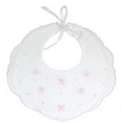 Fancy Baby Bib with Pink Bows