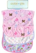 Cutie Pie Waterproof Baby Bibs 3/pack PVC Free