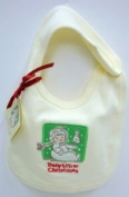 Snowbabies Celebrations Baby's First Christmas Cream Coloured Bib by Department 56