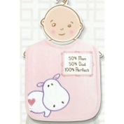 Cute Single Baby Bib with Whimsical Message