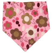 Stylish Bay Bibs in Pink Floral Print, Great Baby Gifts