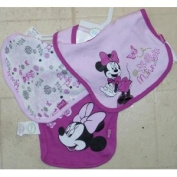 3pk Snap Closure Bib Disney Minnie and Butterfly