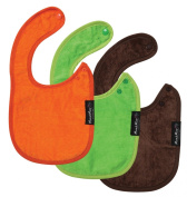 Mum 2 Mum Infant Wonder Bib, 3 pack - Lime, Chocolate, Orange