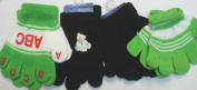 Set of Four Pairs of One Size Magic Stress Gloves for Infants Ages 0-12 Months