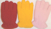 Set of Three Fleece and Microfiber Gloves for Children Ages 2-5 Years