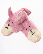 DeLux Pink Bunny Wool Animal Mittens - Limited Edition