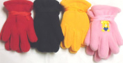 Sj.008, Set of Four Pairs One Size Mongolian Fleece Very Warm Gloves for Infants Ages 3-24 Months