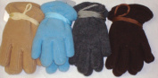 Set of Four Pairs One Size Mongolian Fleece Microfiber Lined Gloves for Toddlers Ages 0-2 Years