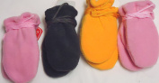 Sg.030, Set of Four Pairs One Size Very Warm Mongolian Fleece Mittens for Infants Ages 3-6 Months
