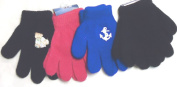Sj.018, Set of Four Pairs One Size Magic Gloves for Infants and Toddlers Ages 1-4 Years