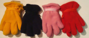 Set of Four Pairs of One Size Fleece Polyester Gloves for Infants Ages 0-12 Months