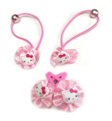 Hello Kitty Hair Clip and Hair Elastic for Baby and Toddler Girl