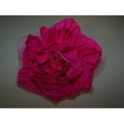 Thirty One Small Rosette Clip Pink