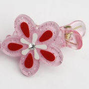 Spring Flowers - Baby Girl & Toddler Hair Clips - Pink