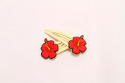 Keikihouse Hair Clip - Red Flower