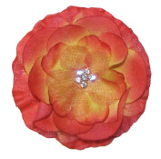 A Girl Company Red/Tan Flower Hair Clip
