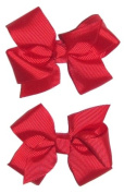 A Girl Company Set of 2 Red Hair Bows for Baby and Girl
