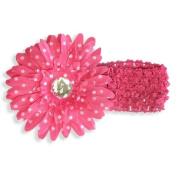 Pink Flower Polka Dot Headband - One Size - Fairy Princess Dress Up