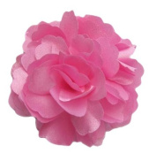 A Girl Company Pink Satin Flower Hair Bow/Clip/Brooch
