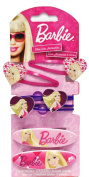 Mattel Barbie 6pc Hair Accessory Set - Barbie Hair Snaps Clips Ponies Set