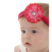 Soft and Stretchy Flower Headband with Hot Pink Daisy, Best Gifts for Kids