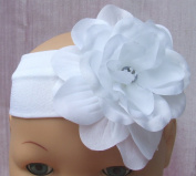 White Rose Baby Headband