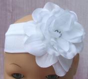 White Rose Baby Headband