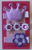 Pretty in Purple Hair Clip Set