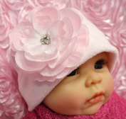 Emma Silk Flower Fleece Baby Hat