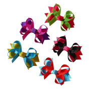 Janecrafts 8.9cm Small Baby Spike Chunky Hairbow 15pcs Mixed in 5 Colours