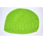Kufi Hat Crochet Cap Beanie-lime Green