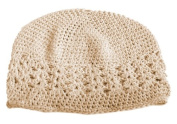 A Girl Company Ivory Crocheted Beanie Hat for Baby/Girl