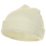 Infant Knit Cuff Beanie - White W20S14F