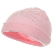 Infant Knit Cuff Beanie - Light Pink W20S14F