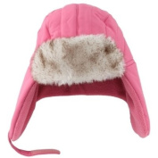 ABC Toddler Girls Light Pink Trapper Hat with Fur Trim aviator