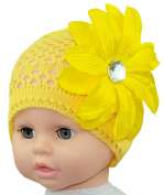 Crochet Flower Baby Hat, Size