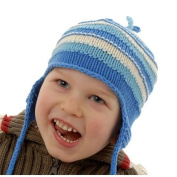 Beautiful Cotton Knit Hats in Pink Stripes, Great Baby Gifts
