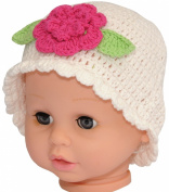 Crochet Baby Spring Flower Beanie, Size