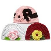 KF Baby Girl Crochet Beanie Hat Value Combo [Set of 3]