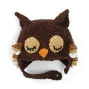 San Diego Hat BROWN SLEEPY OWL Toddler Kids Beanie Hat Bonnet 3-6 yrs - SO cute!!