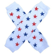 Patriotic USA Red & Blue Stars - So Sydney Brand Leg Warmers - for my Infant, Baby, Toddler, Little Girl or Boy