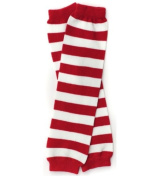 Red & white stripe baby leg warmers for boys and girls by My Little Legs