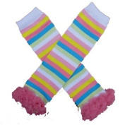 Chiffon Spring Stripe - So Sydney Brand Tutu Chiffon Ruffle Leg Warmers - for Infant, Baby, Toddler, Girls