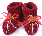 Knitted Baby Booties, Size
