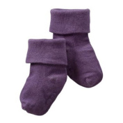 Baby Soy Signature Solid Socks - Eggplant - 0-6 months