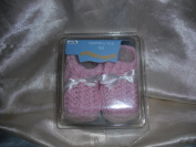 Adorable Knit Baby Booties 0-3 Months