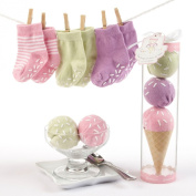 "Baby Aspen ""Sweet Feet"" Three Scoops of Socks Gift Set, Pink Multi-Coloured"