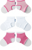 Sock Ons Clever Little Things That Keep Baby Socks On! 3 Pack Girls 6-12 Months