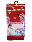 Yelete Girls Fashion Tights Leggings - Girls Leggings Red w/ Character & Design -